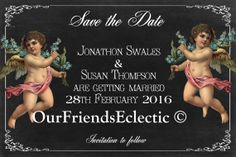 Printable/digital file DIY Save the Date by OurFriendsEclectic, £7.50