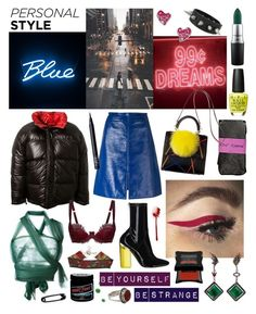 """""""crazy in the city"""" by nothingisnormal ❤ liked on Polyvore featuring Vetements, Courrèges, MAC Cosmetics, Romeo Gigli, Manic Panic NYC, Vivienne Westwood, Betsey Johnson, NARS Cosmetics, Illamasqua and Simons"""