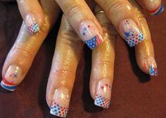Gel nails glow in the dark