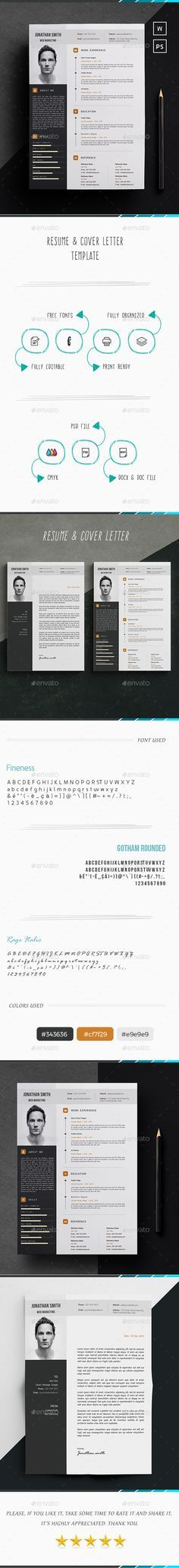 Resume - #Resumes Stationery Download Here:   https://graphicriver.net/item/resume/19872994?ref=suz_562geid