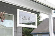 Pondered Primed Perfected: Family Name Established Sign ~ Old Windows
