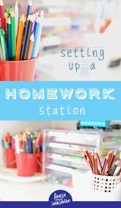 Whether you're getting sorted for back-to-school or need a reset in your busy year, this simple homework station could be a game changer in your afternoons! via @karenschrav