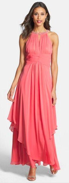 Beautiful tiered chiffon maxi dress