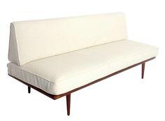 Danish Modern Settee or Sofa by Peter Hvidt and Orla Molgaard-Nielsen at 1stdibs
