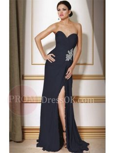 Sleeveless Floor-Length Zipper Sweetheart Black Chiffon Long Prom/Evening Dresses Uk