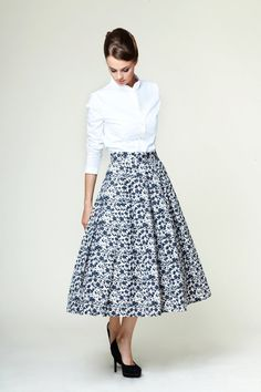 Grace pleated midi sirt ML by mrspomeranz on Etsy, £139.00. A nigh on perfect skirt from vintage inspired brand Mrs Pomeranz. Their designs have plenty of mid-century style but also have a contemporary feel. This isn't just a brand that re-hashes vintage designs.