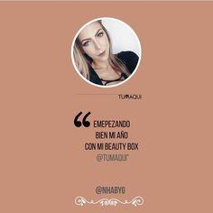 La bella @nhabyg compartió con nosotros su experiencia Tumaqui tras recibir uno de nuestros box. - Empezando bien el año con mi beauty box de @tumaqui (si quieres recibir una cajita de maquillaje por suscripción esta opción esta genial. Son 5 productos increíbles que te pueden llegar a cualquier parte del mundo cada mes) Visítalos en @tumaqui y www.tumaqui.com para que conozcas más. Graciasss @tumaqui amé mi cajita con LOCURA. - #tumaqui #makeup #maquillaje #tips #belleza #contorno…