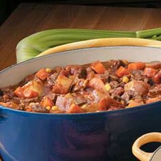 Spicy Chuck-Wagon Soup -- a thick and hearty beef soup full of rich spicy flavor