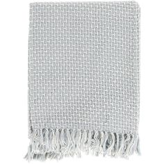 Surya Tierney Slate Throw Blanket (145 ILS) ❤ liked on Polyvore featuring home, bed & bath, bedding, blankets, fillers, accessories, fillers - grey, scarves, grey bedding and grey throw