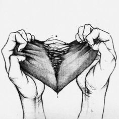 Broken Heart Black And White