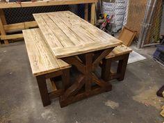 Wooden Outdoor Table, Cedar Table, Rustic Patio, Wood Tables, Rustic Table, Farmhouse Table, Outdoor Dining, Outdoor Chairs, Farmhouse Decor