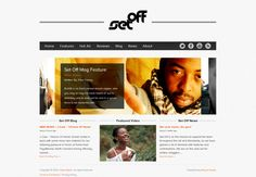 Set Off Mag is an online magazine website created by Shane Boyce of Boyce Design.