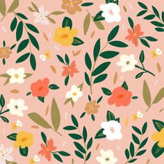 Flower Power, Cute Wallpapers, Wallpaper Backgrounds, Graphic Pattern, Floral Drawing, Surface Pattern Design, Flower Pattern Design, Pattern Illustration, Gouache