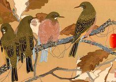 Птицы на сливовом дереве (688x488, 396Kb)