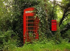 Country Phone Box - would make an unique outhouse - of course with frosted glass