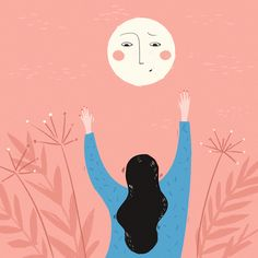 Hello spring by Nina Pu Sun Illustration, Draw Two, Hello Spring, Doodle Drawings, Types Of Art, Stars And Moon, Art Forms, Contemporary Art, Digital Art