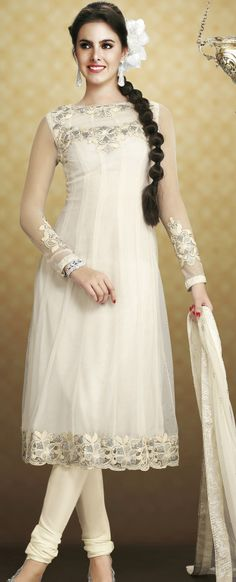 #Christmas Special - #White #Churidar #Suit for Angels