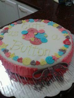 Cute as a button birthday cake :)