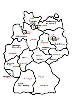 Hauptstadt deutschland karte bundesländer Bundesländer Deutschland