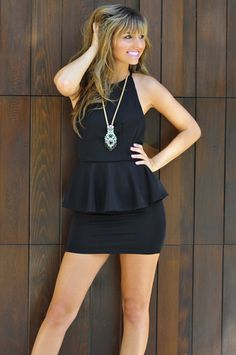 Layer From The Dark Side Dress: Black