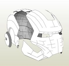 Papercraft .pdo file template for Iron Man - MK III Full Armor +FOAM+.
