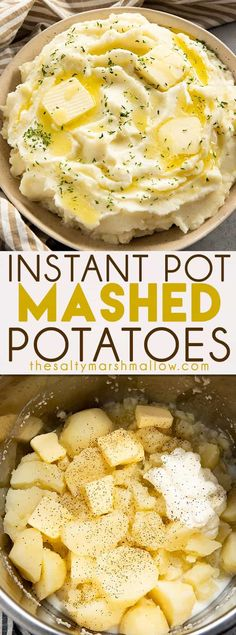 instant pot recipes Instant Pot Mashed Potatoes are rich and creamy and so easy to make! Making mashed potatoes has never been quicker or tasted better than these Instant Pot mashed potatoes ready in 20 minutes! Making Mashed Potatoes, Mashed Potato Recipes, Instapot Mashed Potatoes, Pressure Cooker Mashed Potatoes, Instant Pot Mashed Potatoes Recipe, Chicken Mashed Potatoes, Healthy Mashed Potatoes, Mashed Potatos In Crockpot, Pioneer Woman Mashed Potatoes