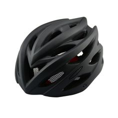 [$12.27] Outdoor Sports Mountainbiking Unibody Protective Helmet with LED Light, Suitable Head Circumference: 55 - 61 cm(Black)