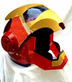 Luusama Motorcycle And Helmet Blog News: Masei 610 IRONMAN Motorcycle DOT & ECE Fiberglass Helmet Inspired by IRON MAN movies & Spiderman 83...