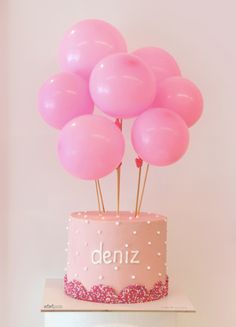 Balloons Cake by #mimipasta