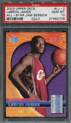 e0548687ecf2 LEBRON JAMES 2003 UPPER DECK ALL-STAR JAM SESSION  LJ-2 RARE RC  2004 PSA  10  LeBronJames  PSA10  sportscards