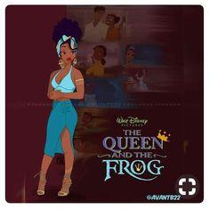 Black Love Art, Black Girl Art, Black Girl Magic, Art Girl, Black Girls, Black Women, Black Cartoon Characters, Black Girl Cartoon, Princesse Disney Swag