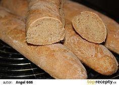 Nejjednodušší špaldové bagety Graham Crackers, Sweet Potato, Food And Drink, Cooking Recipes, Vegetarian, Bread, Baking, Vegetables, Diabetes