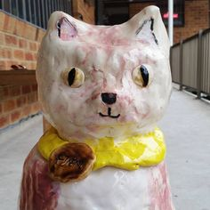 Cat Pot. Kil-n-it Experimental Ceramics Studio, Sydney.