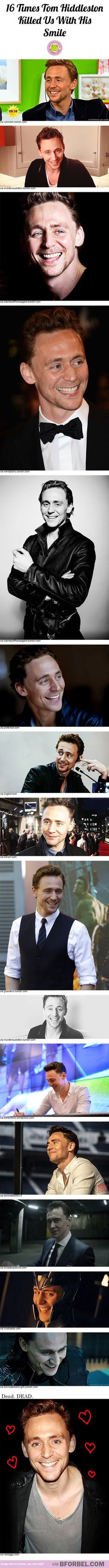 16 times Tom Hiddleston killed us with his smile