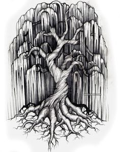 tatto tree drawing