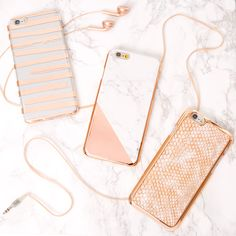 Add some rose gold toned phone cases to your look