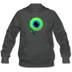 Spreadshirt Women's Jacksepticeye Eyeball Hoodie ($46) ❤ liked on Polyvore featuring tops, hoodies, sweatshirts hoodies, hooded pullover, hoodie and henley hoodie