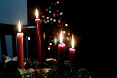Time to light the first candle on the Advent wreath - Happy December everyone!   Advent Sunday | Somewhere in the world today