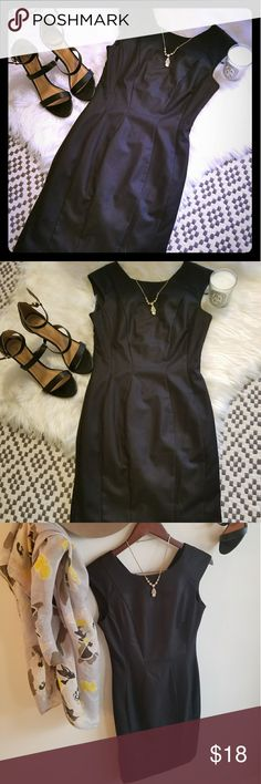 H&M black sheath dress. NWT. Gorgeous simple little black dress. New with tags. Zip up back. Size 4 H&M Dresses Mini