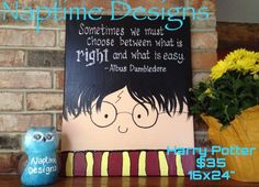 harry potter canvas paintings | ... canvas painting for classroom. HARRY POTTER quote. See facebook page