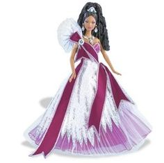 Mattel 2005 Holiday Barbie Doll - African American   http://di13.shoppingshadow.com/images/pi/66/14/91/95777973-260x260-0-0_Mattel%2BMattel%2B2005%2BHoliday%2BBarbie%2BDoll%2BAfrican%2BAme.jpg