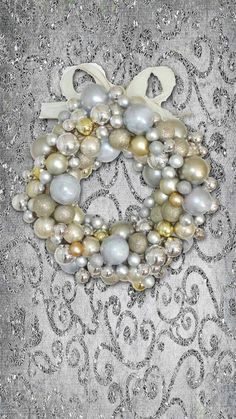 Silver and gold bow Christmas
