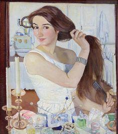 Z. Serebriakovová: Za toaletou, 1909