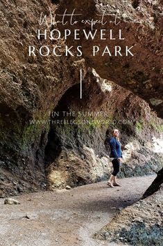 You don't want to miss Hopewell Rocks Park but here are a few things to expect during a summer visit. East Coast Canada, Hopewell Rocks, Mother Daughter Trip, New Brunswick, Weekend Trips, Hiking Trails, Geology, The Rock, Kayaking