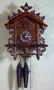 Romba Black Forest Cuckoo Clock with Leaf Trim Made in Germany