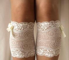 Lace Boot Cuff Socks - cute!