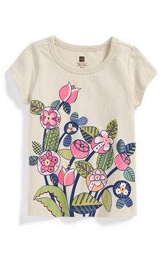 Tea Collection 'Gorumara Flora' Graphic Cotton Tee (Toddler Girls, Little Girls & Big Girls) available at #Nordstrom