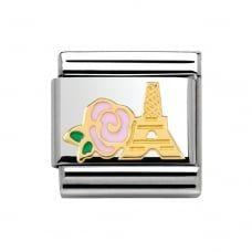 Nomination Composable Classic Madame et Monsieur rosa Rose und Eiffelturm Nomination Charms, Nomination Bracelet, Rosa Rose, Madame, Pink Roses, Jewelery, Daddy, Charmed, Charm Bracelets