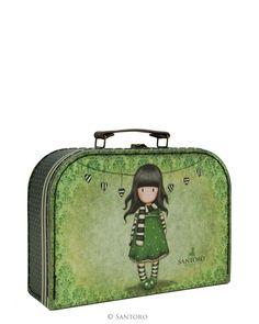 Medium Suitcase Box - The Scarf, Santoro's Gorjuss