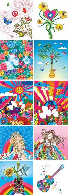 conjunto de colores..vibraciones.. locura..magia.. paz y amor !! for ever !